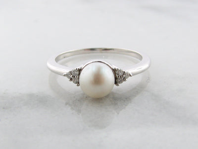 white-gold-pearl-diamond-cluster-ring-wexford-jewelers