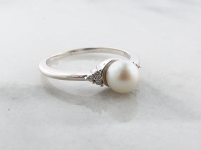 white-pearl-diamond-cluster-white-gold-ring-wexford-jewelers