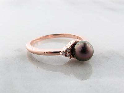 rose-gold-diamond-chocolate-pearl-ring-wexford-jewelers