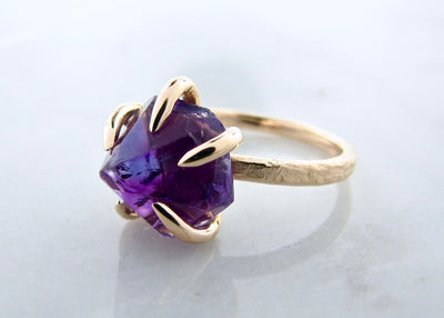 rough-cut-amethyst-claw-ring-yellow-gold-wexford-jewelers