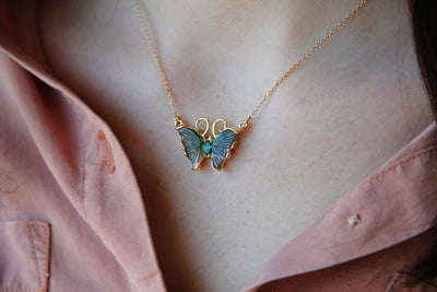 green-butterfly-wings-14kgold-yellowgold-necklace-pendant-wexford-jewelers