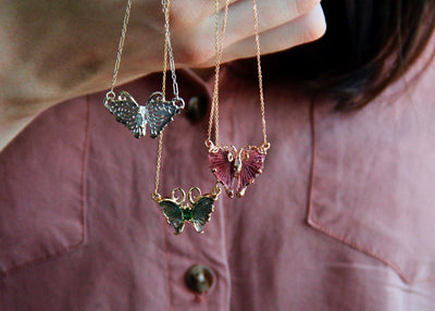 gemstone-carved-butterfly-split-chain-necklaces