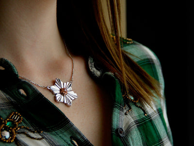snowflakes-collarbone-sterling-rose-gold-two-tone-wexford-jewelers