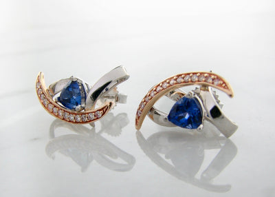 tanzanite-white-yellow-gold-diamond-earrings-wexford-jewelers