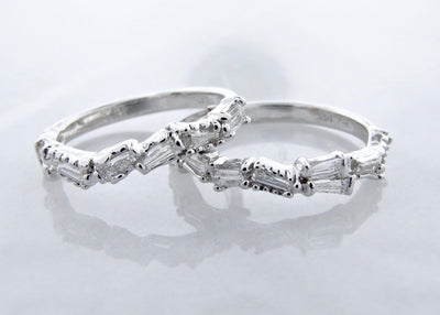 beaded-14K-white-gold-diamond-rings-baguette-diamond