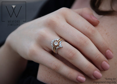 stacked-engagement-rings-diamonds-round-gold-band-wexford