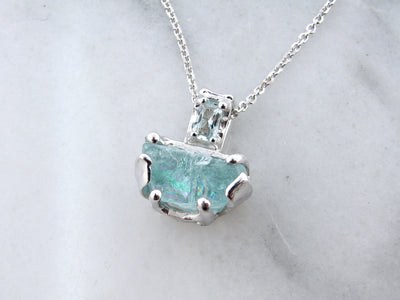 raw-aqua-silver-necklace-wexford-jewelers