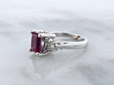 vintage-style-silver-ring-alexandrite-moissanite-wexford-jewelers