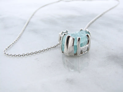wexford-jewelers-raw-aqua-silver-necklace