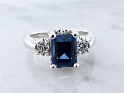 moissanite-sapphire-silver-ring-wexford-jewelers