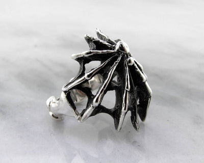 Black Widow Spider Silver Ring