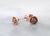 Diamond Earring Studs Rose Gold, Petite Rosebud