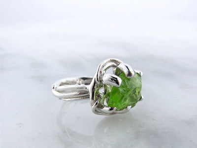 silver-bird-nest-raw-peridot-ring-wexford-jewelers