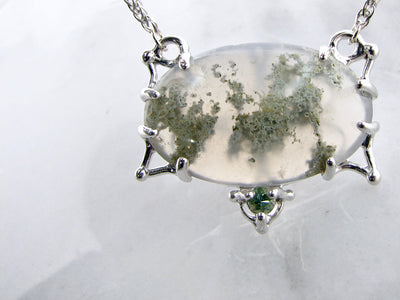 split-chain-silver-moss-quartz-necklace-wexford-jewelers