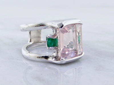 boho-blush-pink-green-silver-gemstone-ring-wexford-jewelers