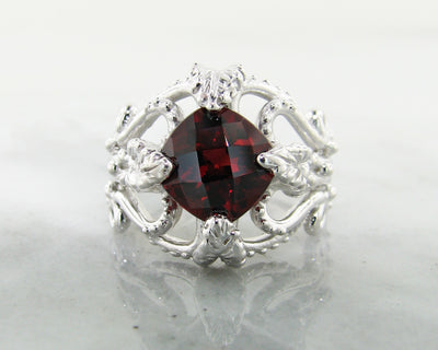 garnet-silver-leafy-victorian-ring-wexford-jewelers