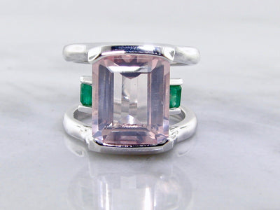 wexford-jewelers-silver-emerald-kunzite-ring-boho-blush