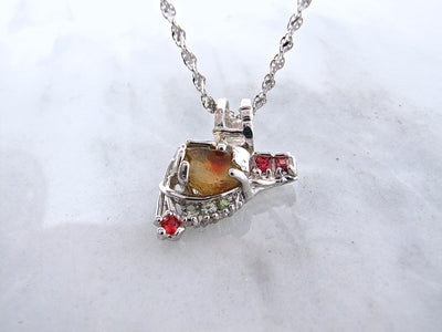 raw-gemstone-citrine-silver-necklace-wexford-jewelers