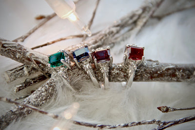 edwardian-style-colored-silver-gemstone-rings