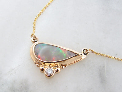 lightening-ridge-opal-diamond-yellow-gold-necklace-wexford-jewelers