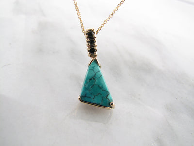 black-vein-turquoise-diamond-pendant-wexford-jewelers