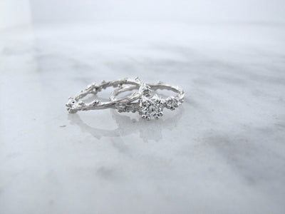 white-gold-euro-cut-diamond-branch-wedding-ring-set-wexford-jewelers