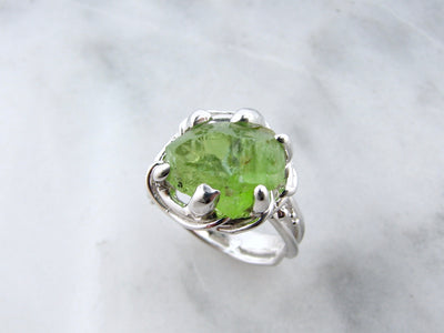 lime-green-peridot-silver-ring-wexford-jewelers