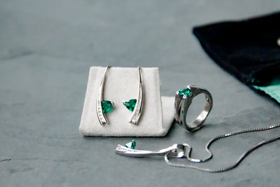 may-birthstone-created-emerald-silver-earrings-wexford-jewelers