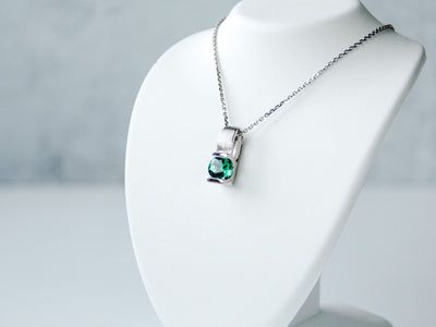 2ct-lab-emerald-silver-pendant-wexford-jewelers