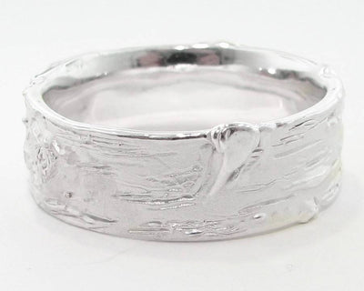 Silver Ring, Wide Birch Band