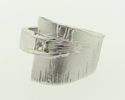 Princess Cut Diamond Silver Ring, Sequoia