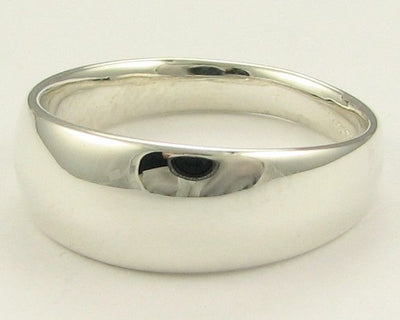 Sterling Silver Ring, Slender Dome
