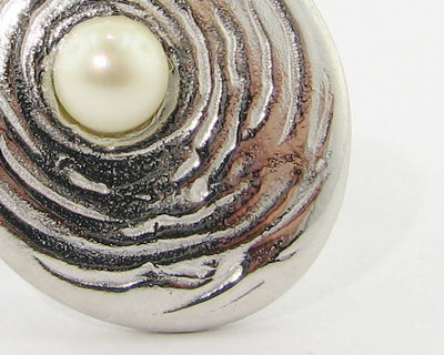 Pearl Silver Ring, Rippling Water
