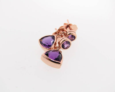 rose-gold-trillion-cut-amethyst-earrings-wexford-jewelers