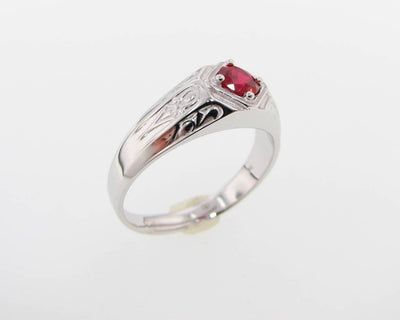 Ruby Men's Ring, Decorous