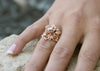 Moissanite Yellow Gold Jane Rose Ring