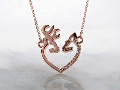 deer-diamond-rose-gold-necklace-wexford-jewelers