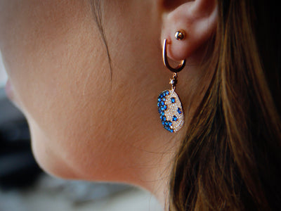 rose-cut-diamond-sapphire-earrings-wexford-jewelers