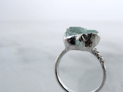 silver-diamond-accent-raw-aquamarine-ring-wexford-jewelers