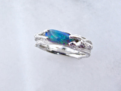 opal-silver-rustic-ring-wexford-jewelers