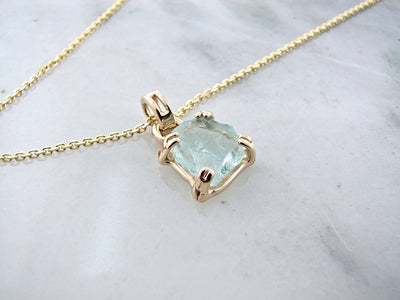 rough-cut-aquamarine-yellow-gold-pendant-wexford-jewelers