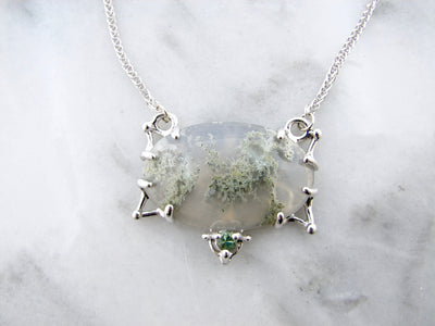 moss-quartz-silver-necklace-wexford-jewelers