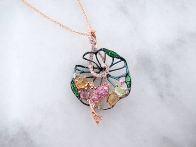 multi-gemstone-sapphire-citrine-peridot-rose-gold-necklace
