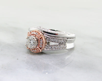 two-tone-engagement-ring-set-rose-white-gold-wexford-jewelers