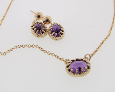 amethyst-yellow-gold-split-chain-crown-shape-necklace