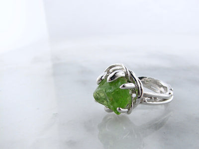 rough-cut-peridot-silver-ring-rustic-styled-ring-wexford-jewelers