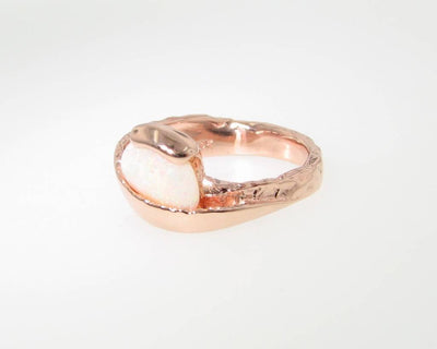 Opal Rose Gold Ring, Sweep