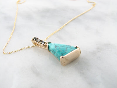 kingman-turquoise-yellow-gold-pendant-wexford-jewelers