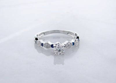 white-gold-deco-diamond-blue-sapphire-engagement-ring-wexford-jewelers