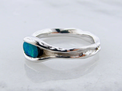 oval-opal-silver-melted-band-wexford-jewelers